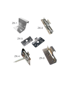 Metal sheet roofing angle latches